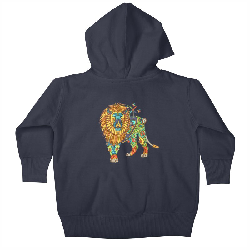 Lion, cool art from the AlphaPod Collection Kids Baby Zip-Up Hoody by AlphaPod