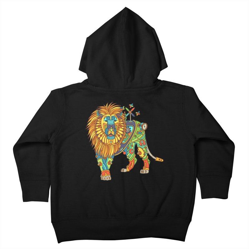 Lion, cool wall art for kids and adults alike Kids Toddler Zip-Up Hoody by AlphaPod