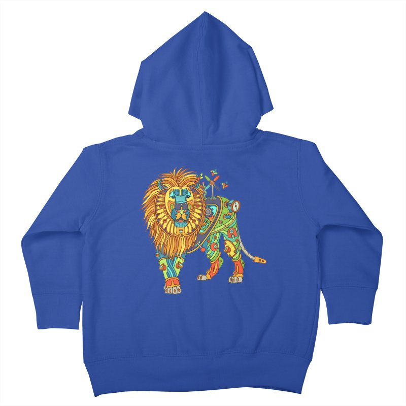 Lion, cool art from the AlphaPod Collection Kids Toddler Zip-Up Hoody by AlphaPod