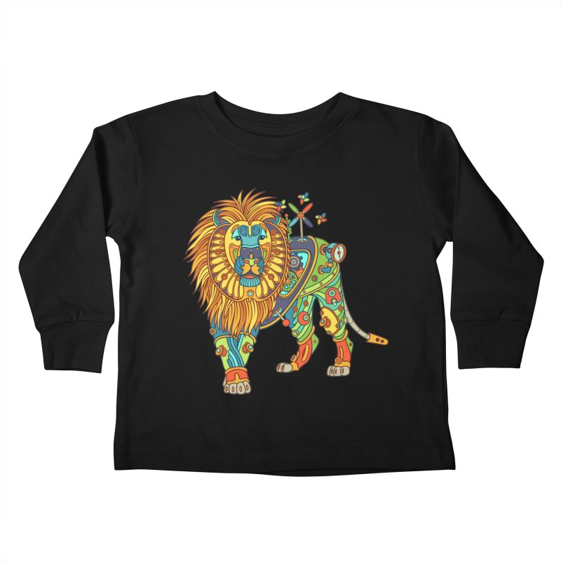Lion, cool wall art for kids and adults alike Kids Toddler Longsleeve T-Shirt by AlphaPod