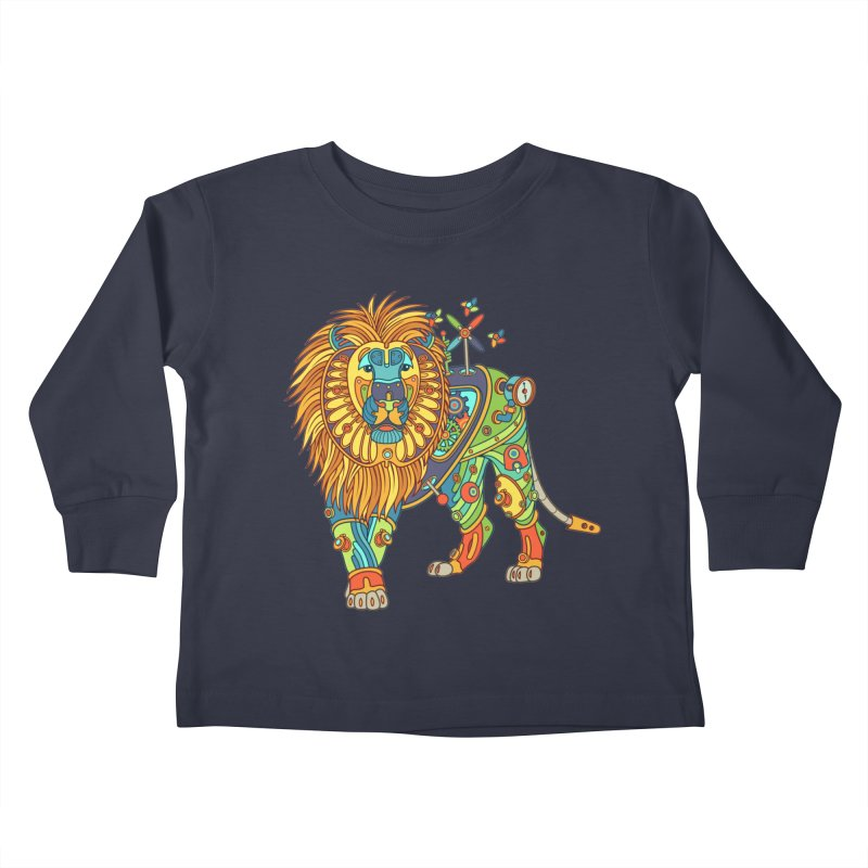 Lion, cool art from the AlphaPod Collection Kids Toddler Longsleeve T-Shirt by AlphaPod