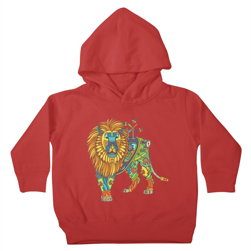 Lion, cool wall art for kids and adults alike Kids Toddler Pullover Hoody by AlphaPod