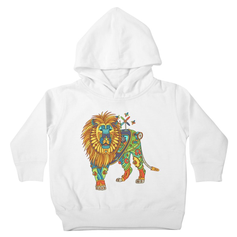 Lion, cool art from the AlphaPod Collection Kids Toddler Pullover Hoody by AlphaPod
