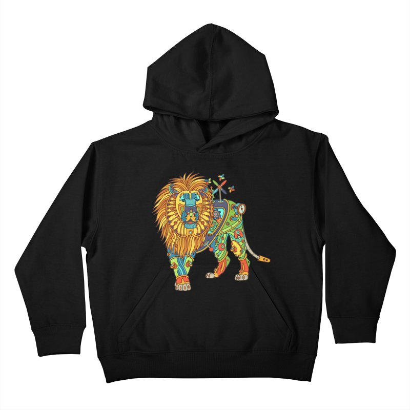 Lion, cool art from the AlphaPod Collection Kids Pullover Hoody by AlphaPod
