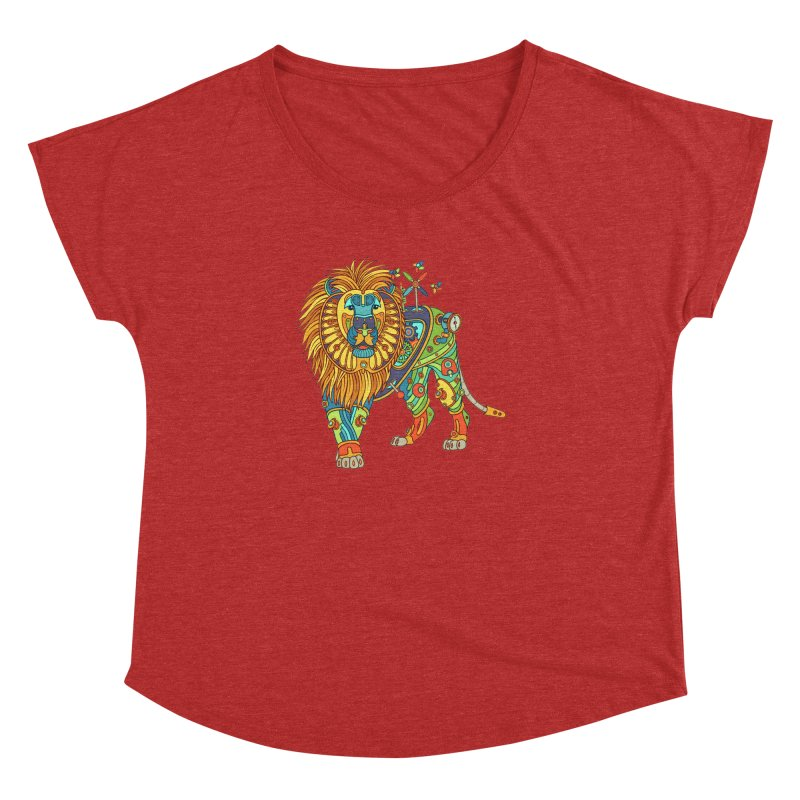 Lion, cool wall art for kids and adults alike Women's Dolman by AlphaPod