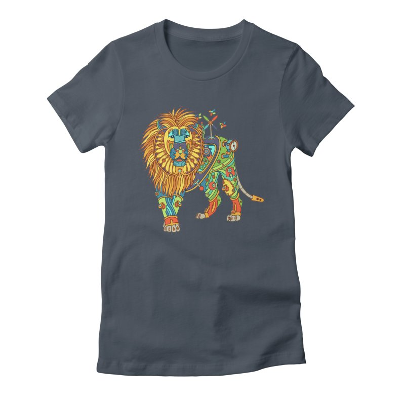 Lion, cool art from the AlphaPod Collection Women's Fitted T-Shirt by AlphaPod