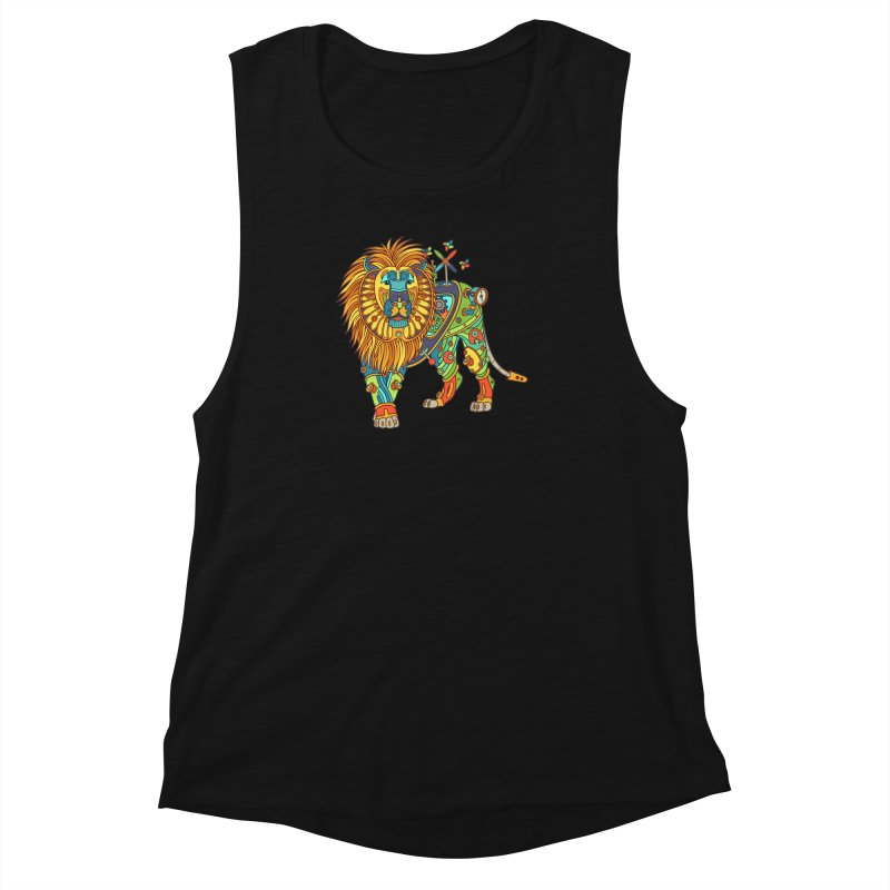 Lion, cool art from the AlphaPod Collection Women's Muscle Tank by AlphaPod