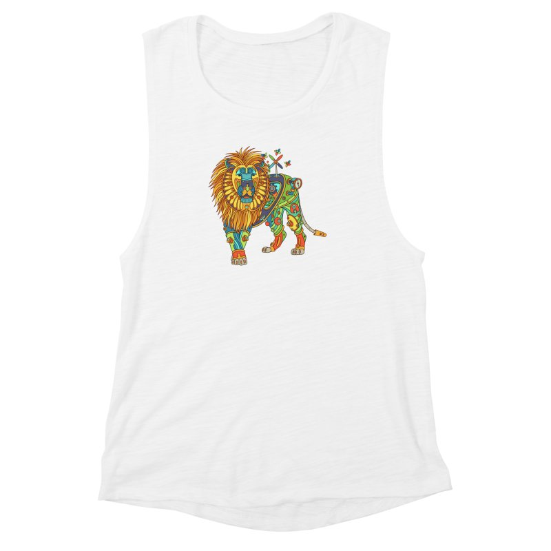 Lion, cool wall art for kids and adults alike Women's Muscle Tank by AlphaPod