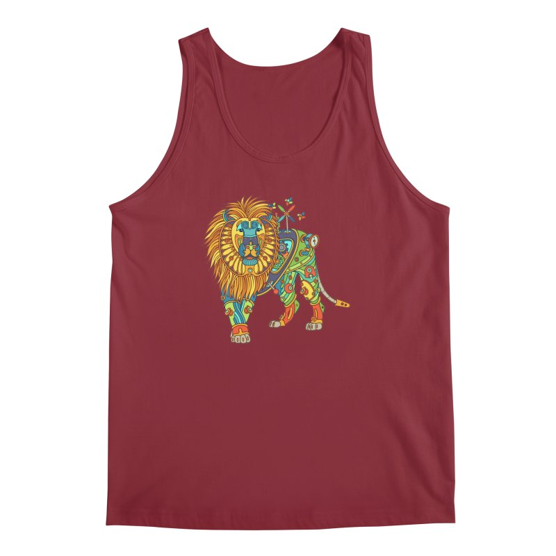 Lion, cool art from the AlphaPod Collection Men's Tank by AlphaPod