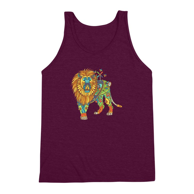 Lion, cool wall art for kids and adults alike Men's Triblend Tank by AlphaPod