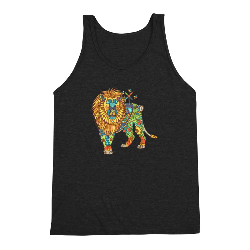 Lion, cool art from the AlphaPod Collection Men's Triblend Tank by AlphaPod