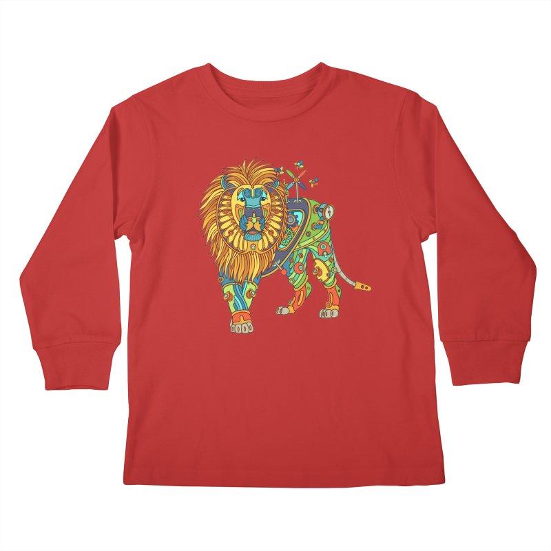 Lion, cool art from the AlphaPod Collection Kids Longsleeve T-Shirt by AlphaPod