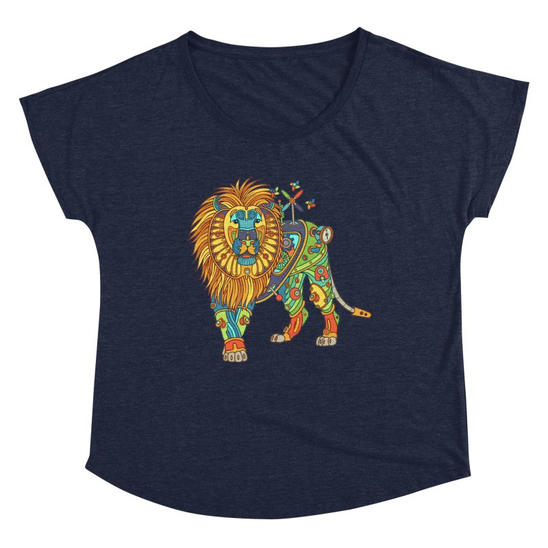 Lion, cool art from the AlphaPod Collection Women's Scoop Neck by AlphaPod