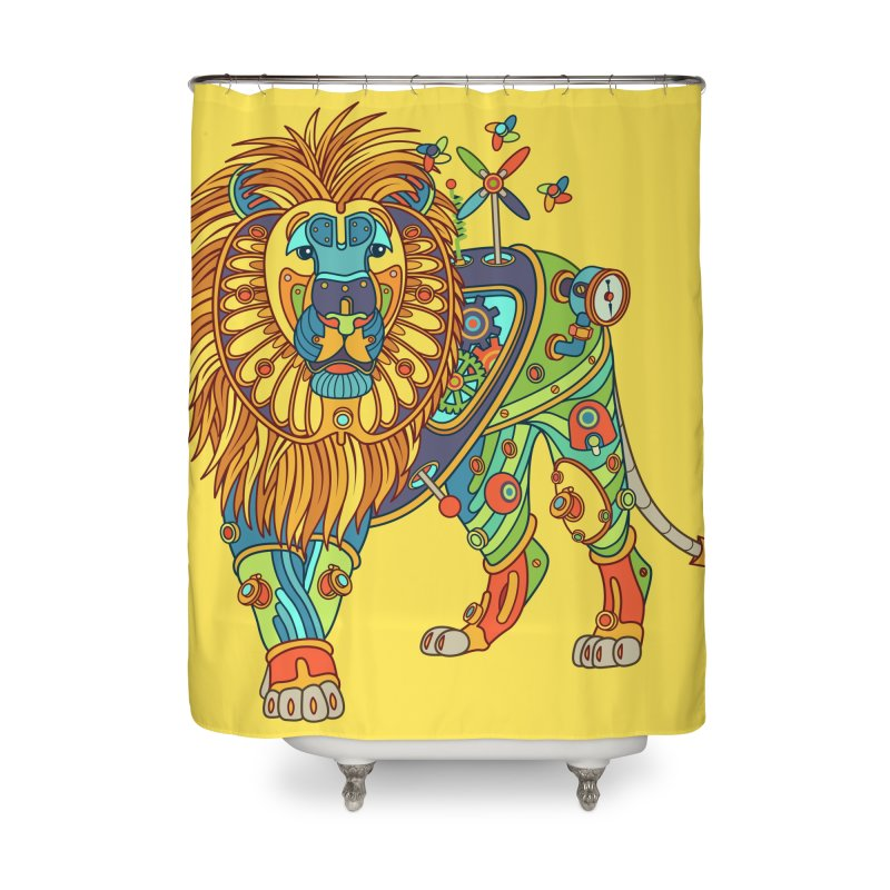 Lion, cool wall art for kids and adults alike Home Shower Curtain by AlphaPod