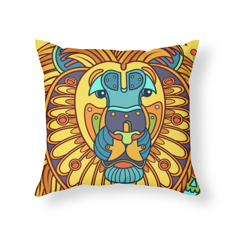 Lion, cool wall art for kids and adults alike Home Throw Pillow by AlphaPod