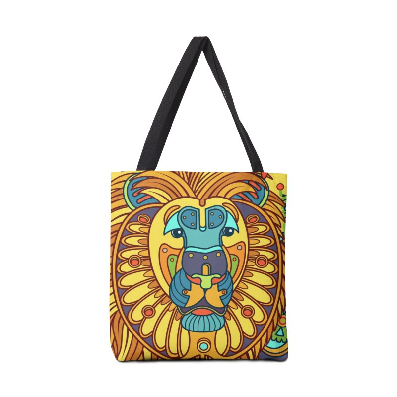 Lion, cool art from the AlphaPod Collection Accessories Bag by AlphaPod