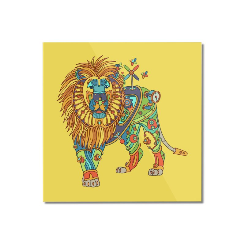 Lion, cool art from the AlphaPod Collection Home Mounted Acrylic Print by AlphaPod