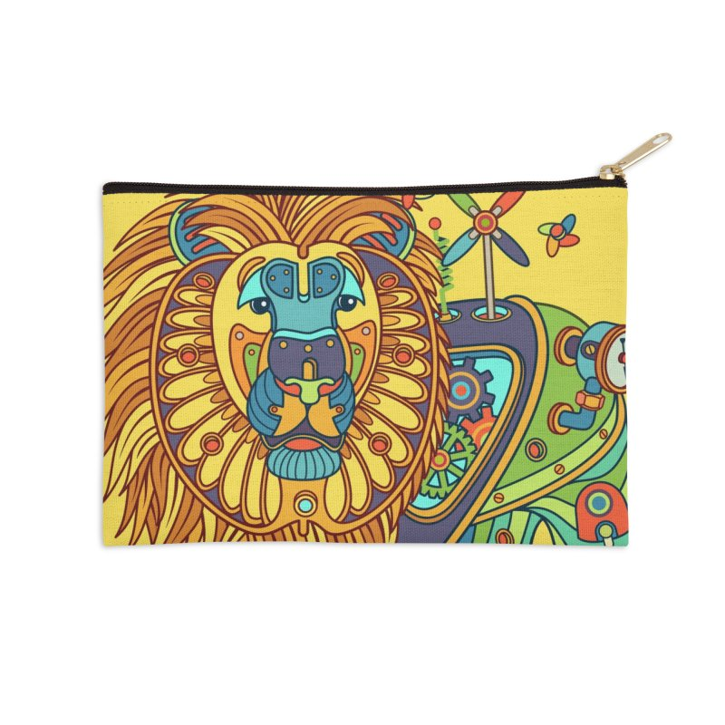 Lion, cool wall art for kids and adults alike Accessories Zip Pouch by AlphaPod