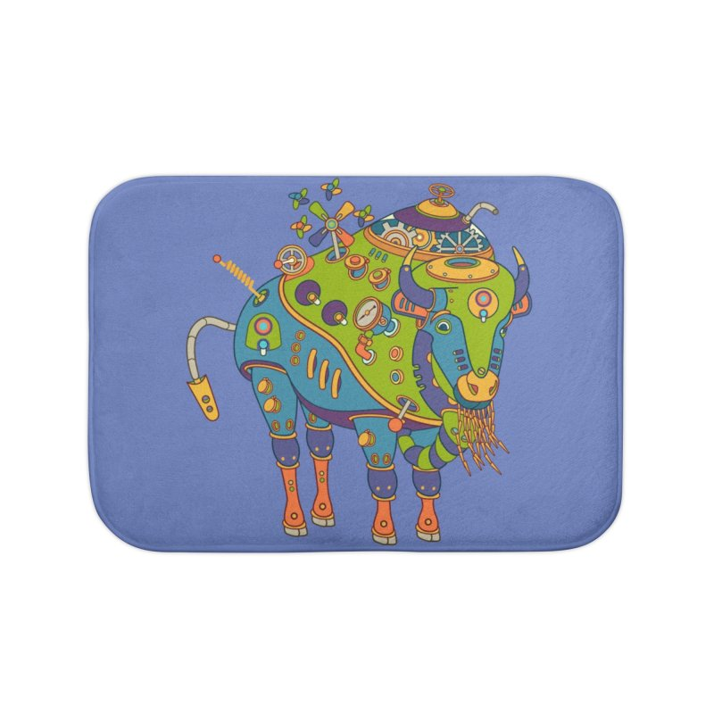 Bison, cool wall art for kids and adults alike Home Bath Mat by AlphaPod