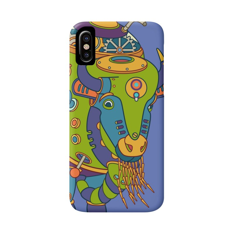 Bison, cool art from the AlphaPod Collection Accessories Phone Case by AlphaPod