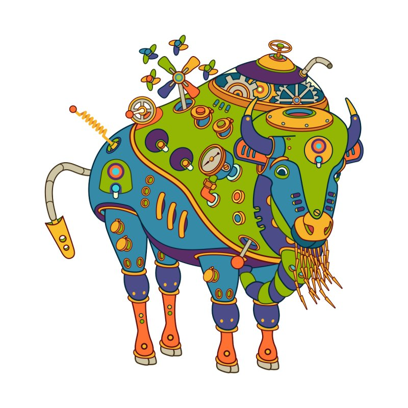 Bison, cool art from the AlphaPod Collection   by AlphaPod