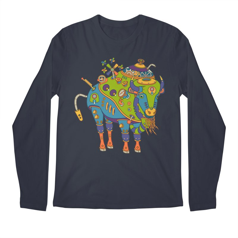 Bison, cool art from the AlphaPod Collection Men's Longsleeve T-Shirt by AlphaPod