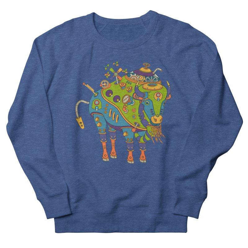Bison, cool art from the AlphaPod Collection Men's Sweatshirt by AlphaPod
