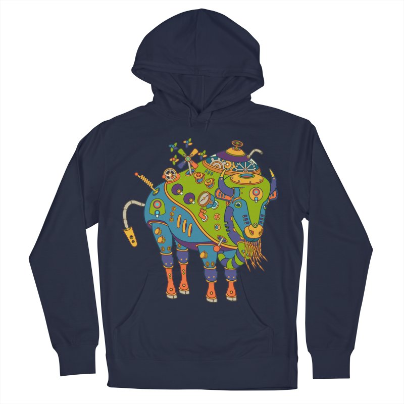 Bison, cool art from the AlphaPod Collection Women's French Terry Pullover Hoody by AlphaPod