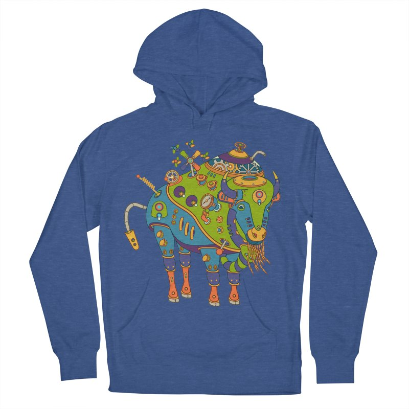 Bison, cool wall art for kids and adults alike Men's Pullover Hoody by AlphaPod