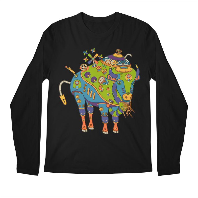 Bison, cool wall art for kids and adults alike Men's Longsleeve T-Shirt by AlphaPod