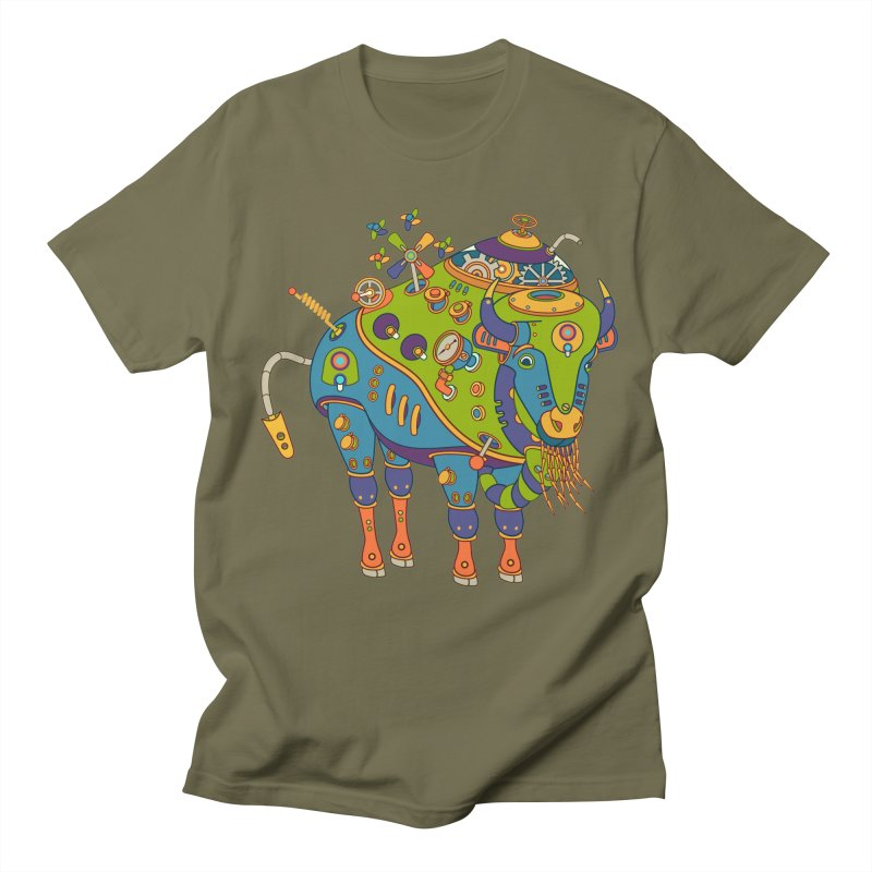 Bison, cool art from the AlphaPod Collection Women's Unisex T-Shirt by AlphaPod