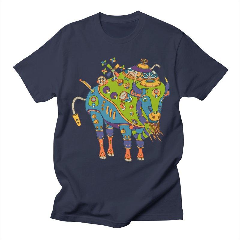 Bison, cool art from the AlphaPod Collection Women's Regular Unisex T-Shirt by AlphaPod