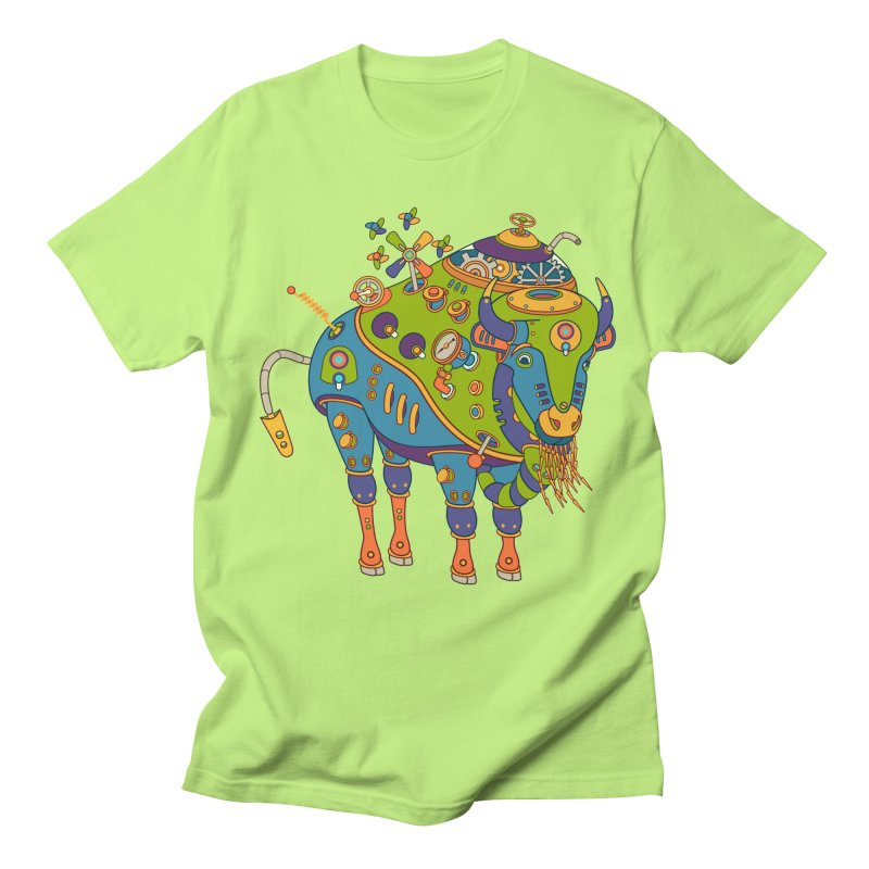 Bison, cool wall art for kids and adults alike Men's T-shirt by AlphaPod