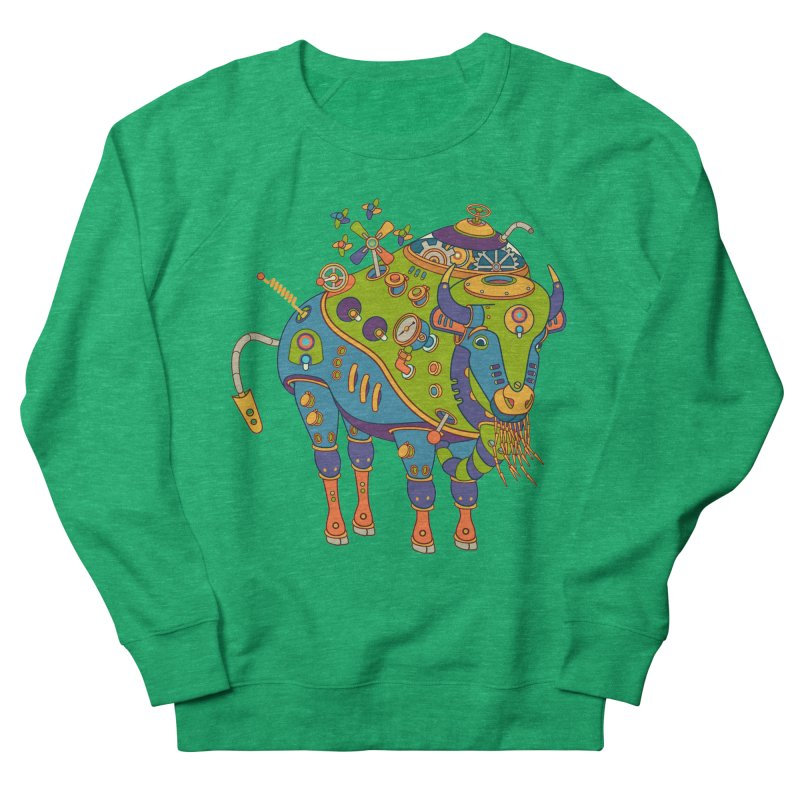 Bison, cool art from the AlphaPod Collection Women's French Terry Sweatshirt by AlphaPod