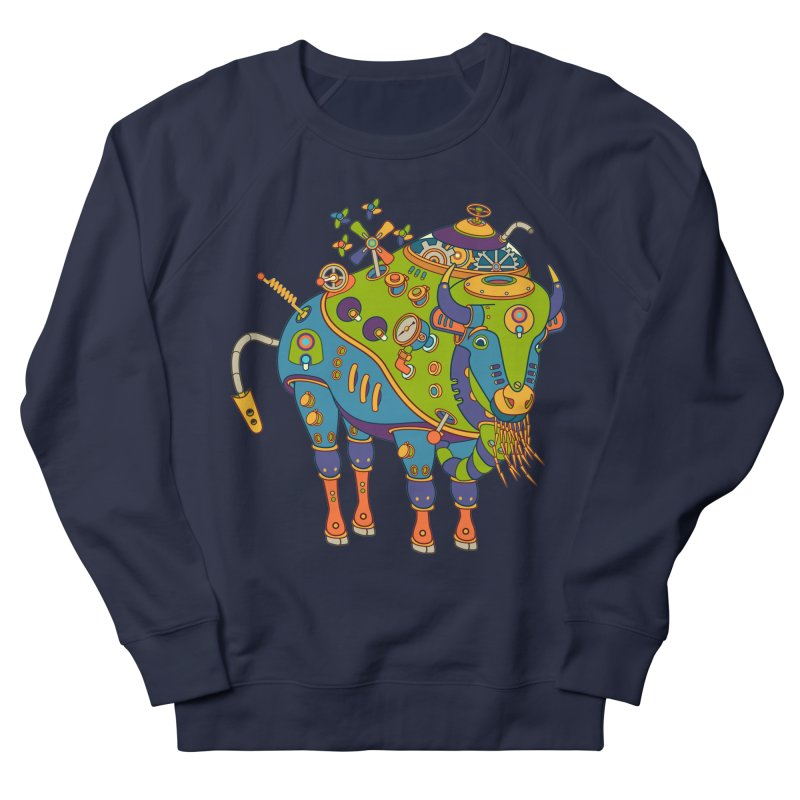 Bison, cool wall art for kids and adults alike Women's Sweatshirt by AlphaPod