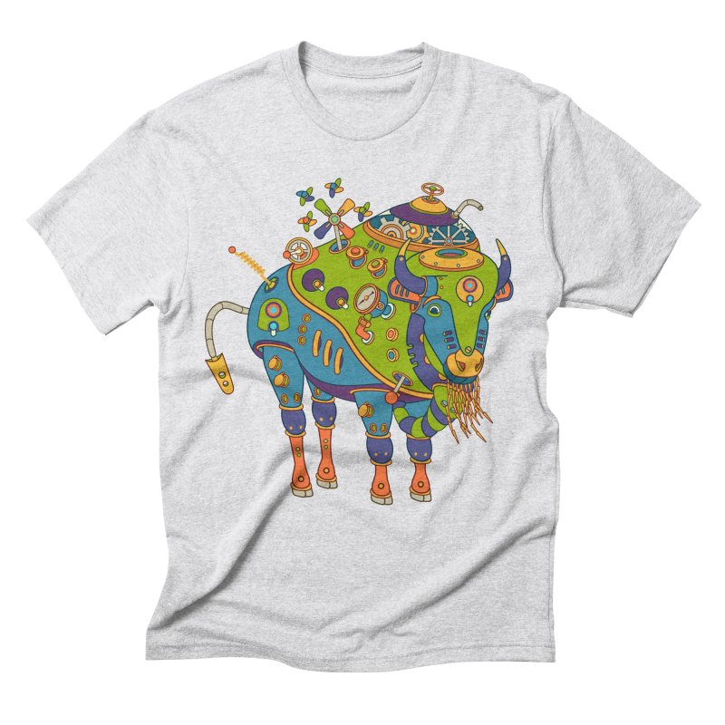 Bison, cool wall art for kids and adults alike Men's Triblend T-shirt by AlphaPod