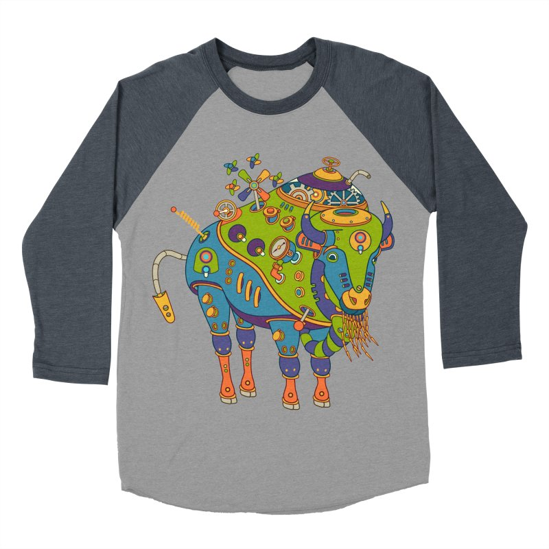 Bison, cool wall art for kids and adults alike Women's Baseball Triblend T-Shirt by AlphaPod