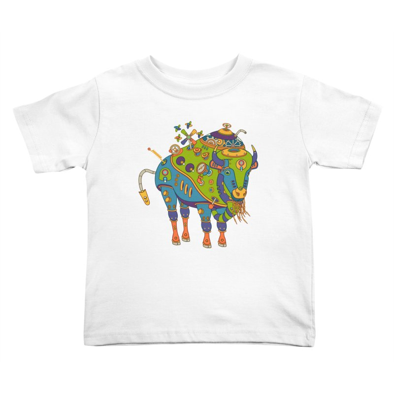 Bison, cool wall art for kids and adults alike Kids Toddler T-Shirt by AlphaPod