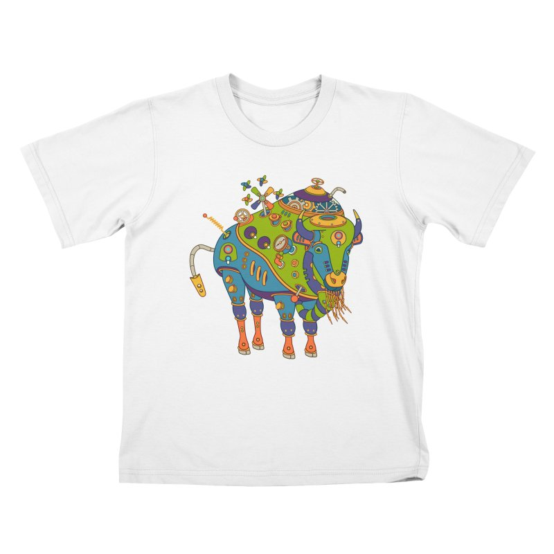Bison, cool wall art for kids and adults alike Kids T-shirt by AlphaPod