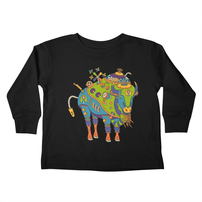 Bison, cool wall art for kids and adults alike Kids Toddler Longsleeve T-Shirt by AlphaPod