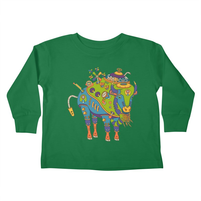 Bison, cool art from the AlphaPod Collection Kids Toddler Longsleeve T-Shirt by AlphaPod