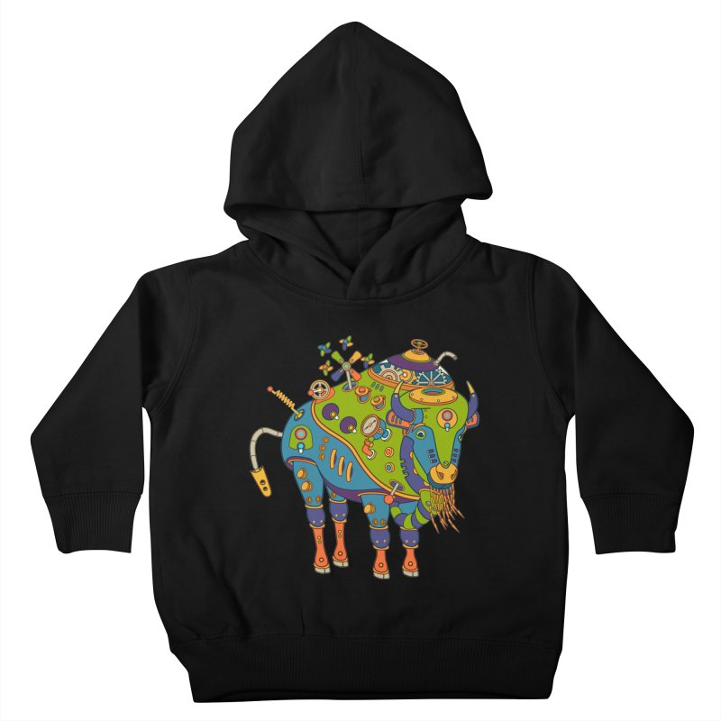 Bison, cool art from the AlphaPod Collection Kids Toddler Pullover Hoody by AlphaPod