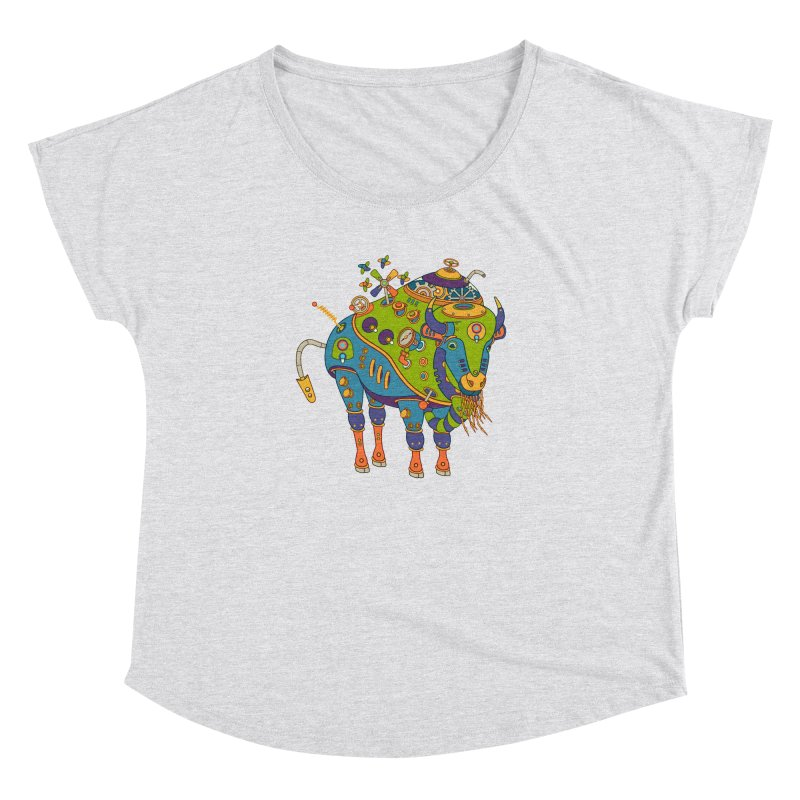 Bison, cool art from the AlphaPod Collection Women's Dolman by AlphaPod