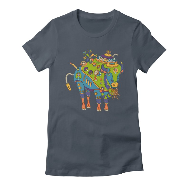Bison, cool art from the AlphaPod Collection Women's T-Shirt by AlphaPod