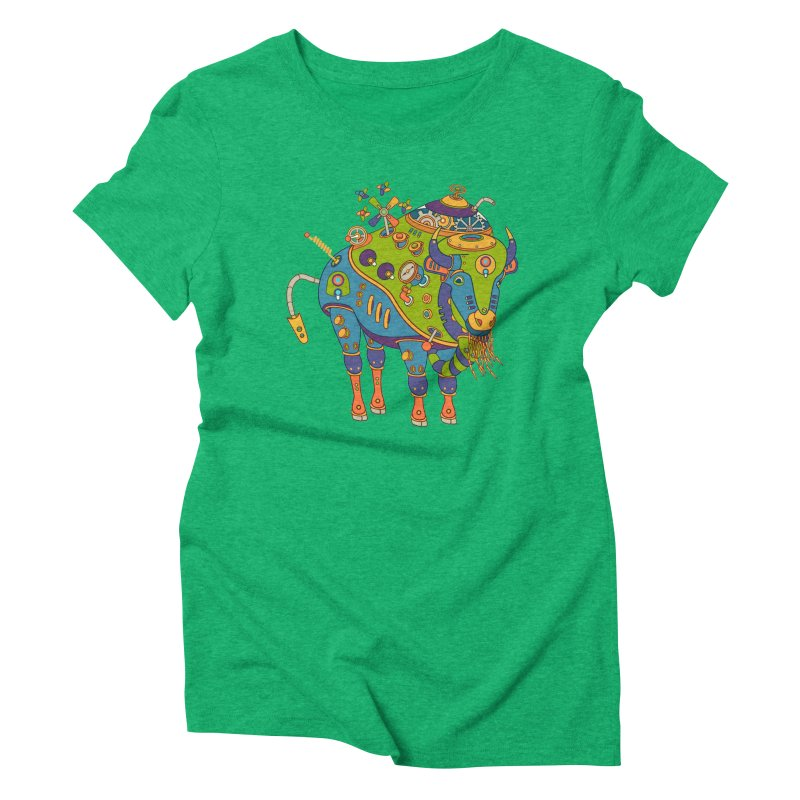 Bison, cool art from the AlphaPod Collection Women's Triblend T-Shirt by AlphaPod