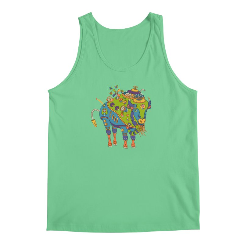 Bison, cool art from the AlphaPod Collection Men's Tank by AlphaPod
