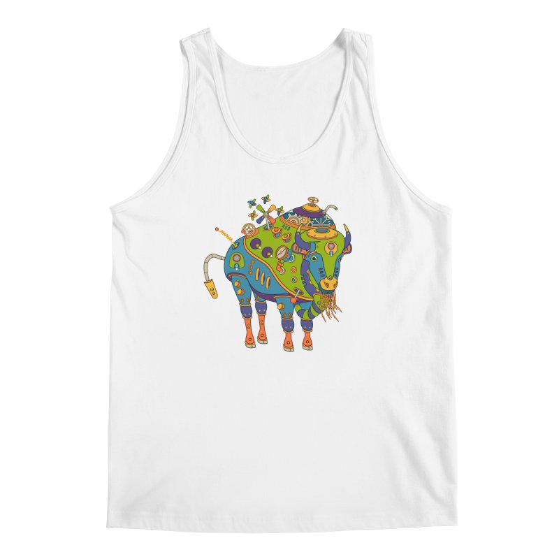 Bison, cool wall art for kids and adults alike Men's Tank by AlphaPod