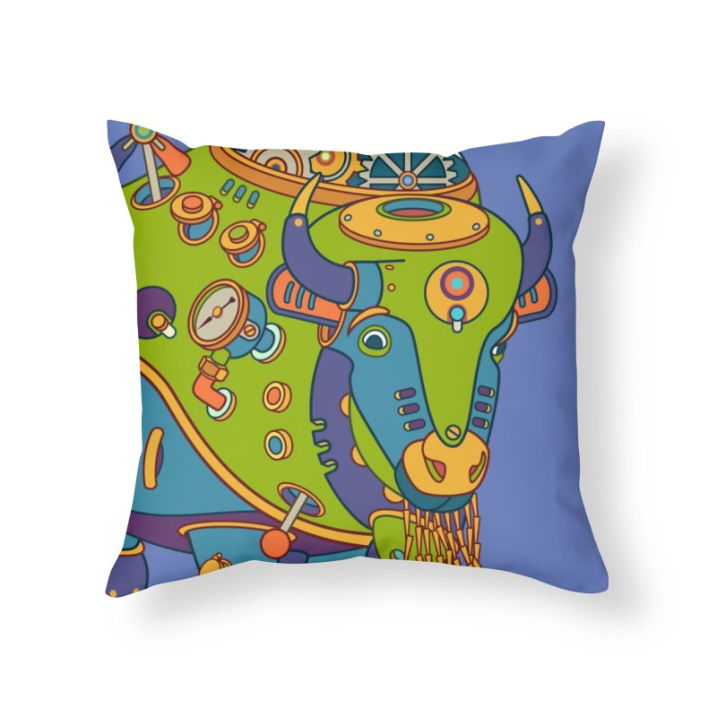 Bison, cool wall art for kids and adults alike Home Throw Pillow by AlphaPod