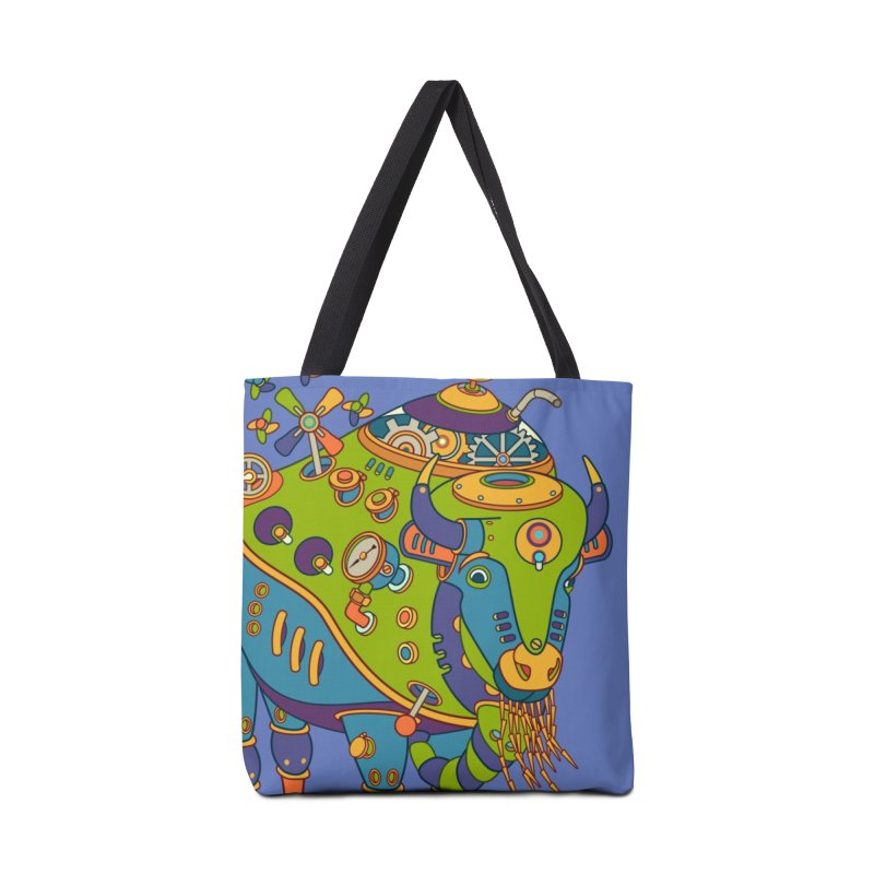 Bison, cool art from the AlphaPod Collection Accessories Bag by AlphaPod