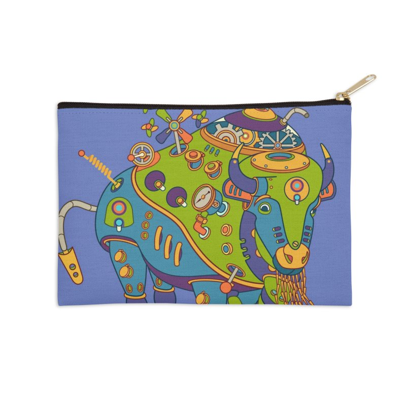 Bison, cool wall art for kids and adults alike Accessories Zip Pouch by AlphaPod